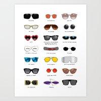 Cinema Sunglasses Art Print