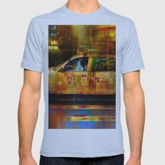 Missed cab  Mens Fitted Tee Athletic Blue SMALL