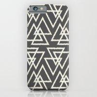 Trilogy Triangles-Dark Gray & Cream iPhone 6 Slim Case