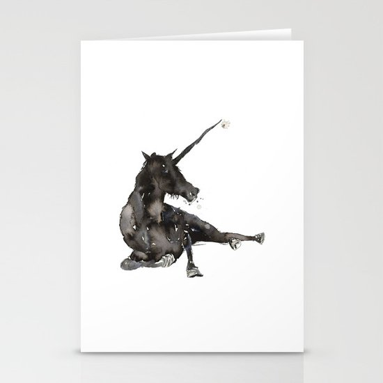 Unicorn. Stationery Card