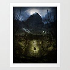 Valley Of Masks Art Print