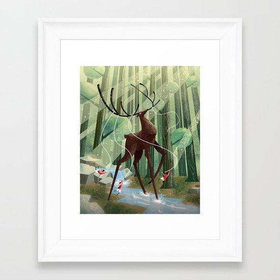 Giant deer Framed Art Print