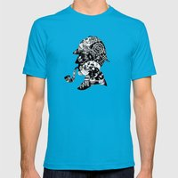Mr. Holmes Mens Fitted Tee Teal SMALL