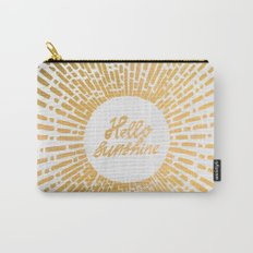 Hello Sunshine Gold Carry-All Pouch