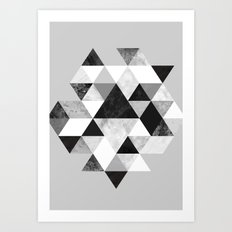 Graphic 202 Black and White Art Print