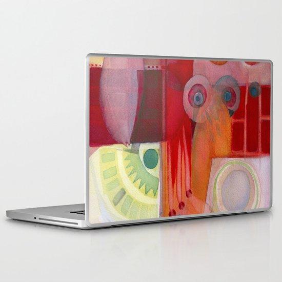 Holding Laptop & iPad Skin