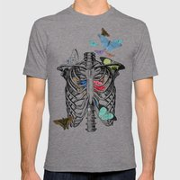 Anatomy 101 - The Thorax Mens Fitted Tee Tri-Grey SMALL