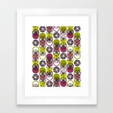 Black Border Abstract Circles Framed Art Print