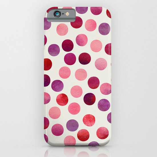 Watercolor Dots_Berry by zJacqueline and Garima iPhone & iPod Case