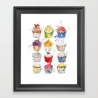 Cupcakes Galore! Framed Art Print