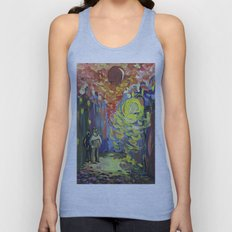 Loneliness under the street light Unisex Tank Top