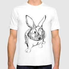 white rabbit SMALL White Mens Fitted Tee