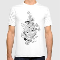 6AM White SMALL Mens Fitted Tee