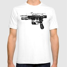 Blaster II SMALL White Mens Fitted Tee