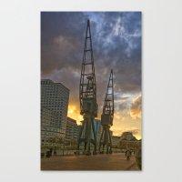 Docklands London Dusk Canvas Print
