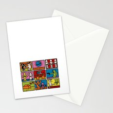 Haring - étoiles W. Stationery Cards