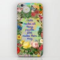 Faith And Love iPhone & iPod Skin