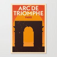 Paris City Retro Poster Canvas Print
