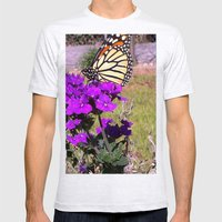 Butterfly Mens Fitted Tee Ash Grey SMALL