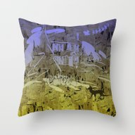 Little Chistmas Snow Fam… Throw Pillow