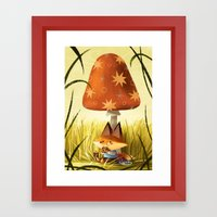 Break Time Framed Art Print