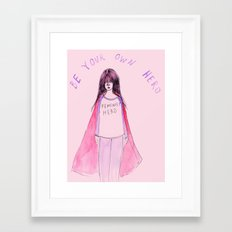Feminist Hero Framed Art Print