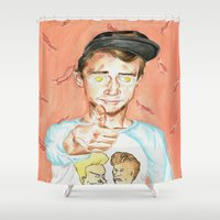 Get Fried Shower Curtain
