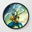 Whale Rider (#282 from MASK365) Wall Clock