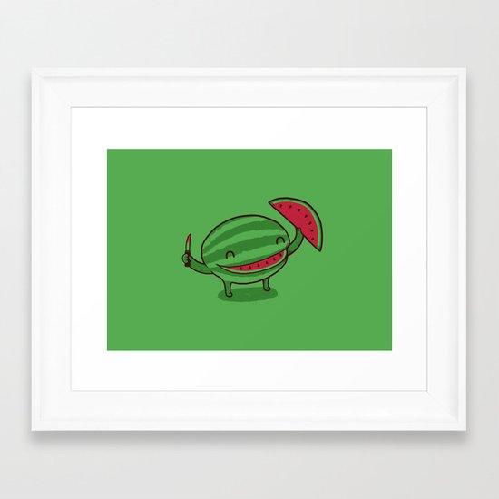 A Happy Slice of Life Framed Art Print