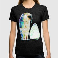 Remix Emperor Penguins Womens Fitted Tee Tri-Black SMALL