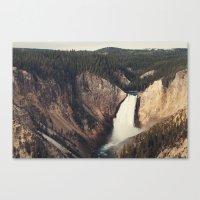 Yellowstone Canyon Waterfall Canvas Print