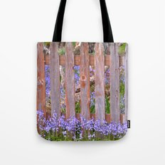 Old Picket Fence In Spring Tote Bag