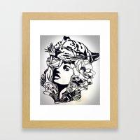 Strong Girl Framed Art Print
