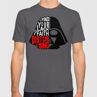 I Find Your Lack Of Fait… Mens Fitted Tee Asphalt SMALL