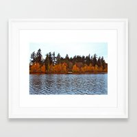 Framed Art Print featuring Wapato Lake view by Vorona Photography