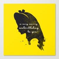Unbirthday – Alice Silhouette Quote Canvas Print
