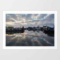 Dawn At West Stockwith Art Print