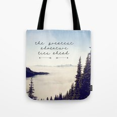 the greatest adventure- mountains Tote Bag