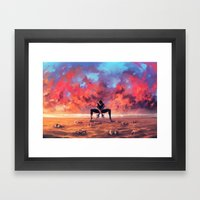CANCER from the Dancing Zodiac Framed Art Print
