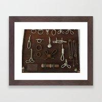 cuerdas Framed Art Print