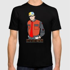 Marty McFly Mens Fitted Tee Black SMALL