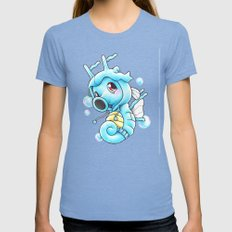 Still Horsing Around Womens Fitted Tee Tri-Blue SMALL
