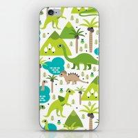 Dinosaur illustration pattern print iPhone & iPod Skin