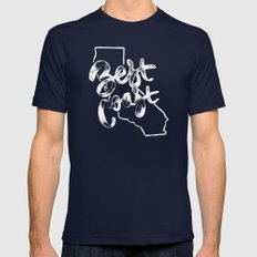 Best Coast Mens Fitted Tee Navy SMALL