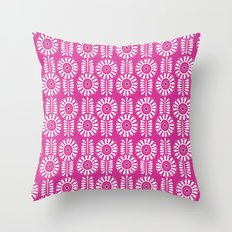 Think Spring: Magenta Throw Pillow