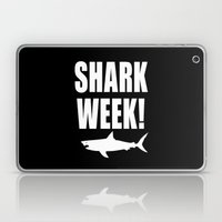 Shark week (on black) Laptop & iPad Skin