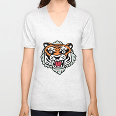 Tiger Mask Unisex V-Neck