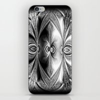 Abstract Peacock. Black+… iPhone & iPod Skin
