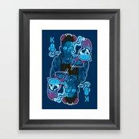 King Of Crystals Framed Art Print