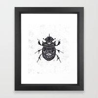 Scarabaeoidea Framed Art Print